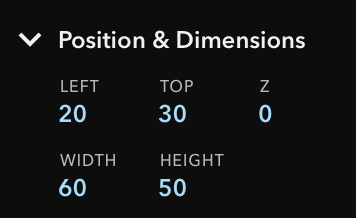 Inspector Section for Position & Dimension