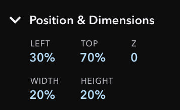 Relative Position & Dimension