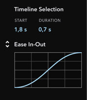 Inspector Section for Timeline Selection